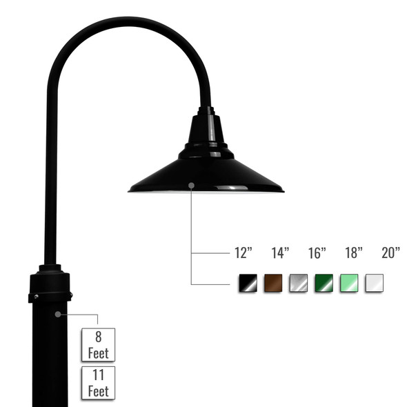 Customizable Calla LED Barn Lamp Post