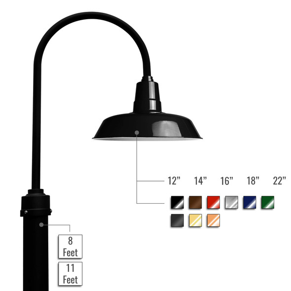 Customizable Oldage LED Barn Lamp Post
