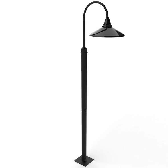 """11 ft Calla High Outdoor Post Light with 18"""" Shade - Black"""