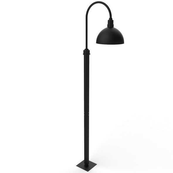 """8 ft Blackspot Outdoor Post Lamp with 14"""" Shade - Matte Black"""