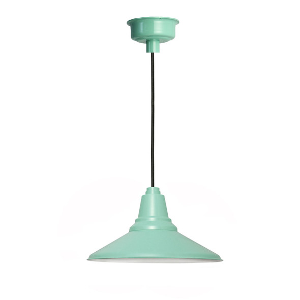 "Calla 14"" LED Pendant Light in Jade"