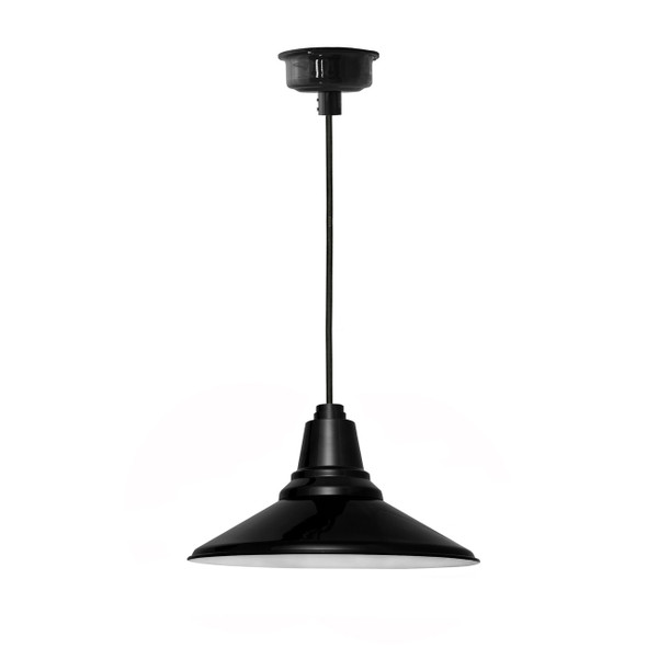 "18"" Calla LED Black Pendant Light"