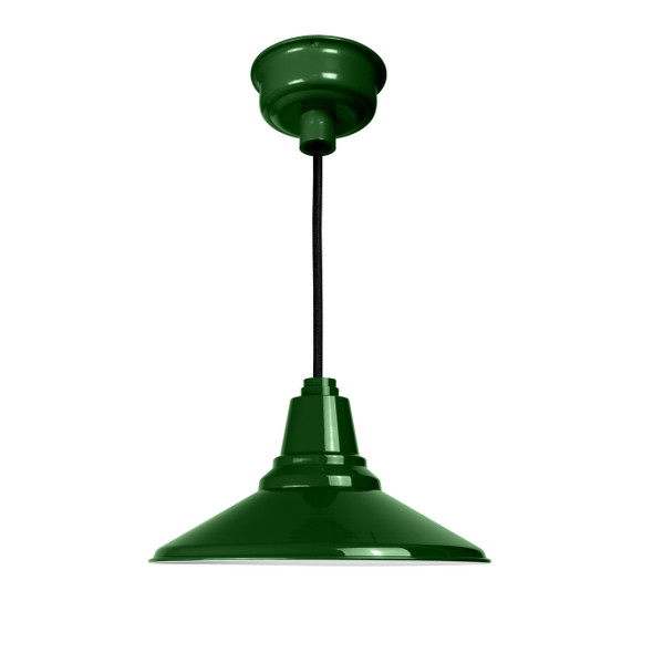 "Cocoweb 18"" Calla Ceiling Pendant Light in Vintage Green"
