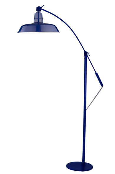 "12"" Oldage LED Floor Lamp - Cobalt Blue"