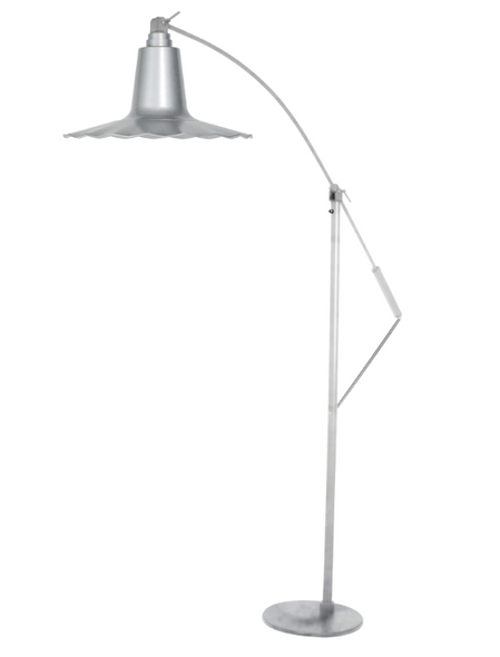 "12"" Iris Floor Lamp - Galvanized Silver"