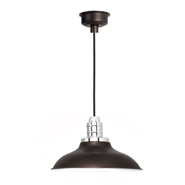 "12"" Peony LED Pendant Light - Mahogany Bronze"