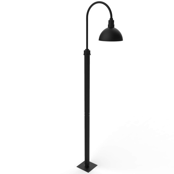 Blackspot Outdoor Post Lamp with Matte Black Shade