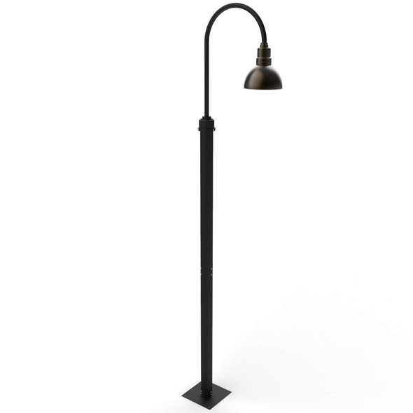 Blackspot Outdoor Post Lamp with Mahogany Bronze Shade
