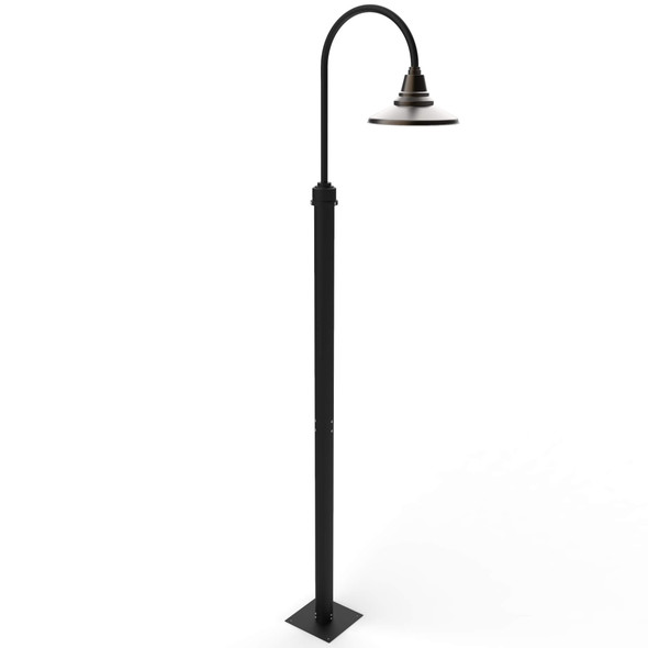 Calla Post Lights with Mahogany Bronze Shade