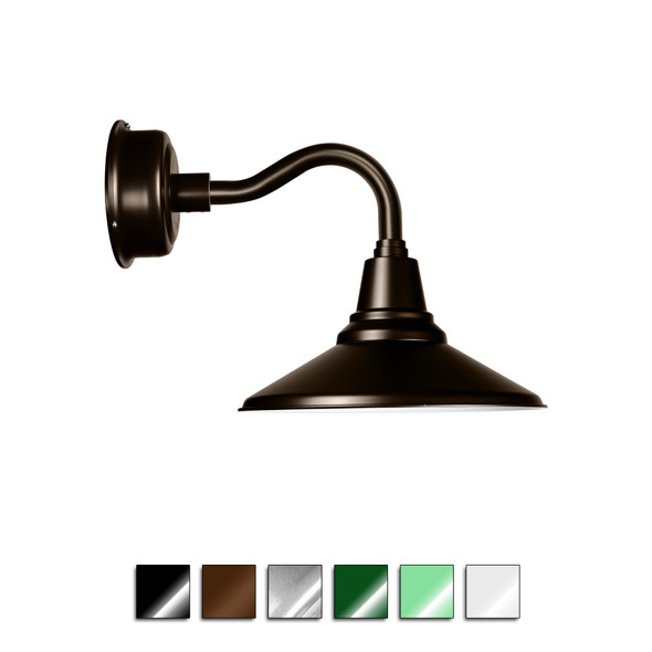 Calla Gooseneck Barn Sconce Light with Chic Arm