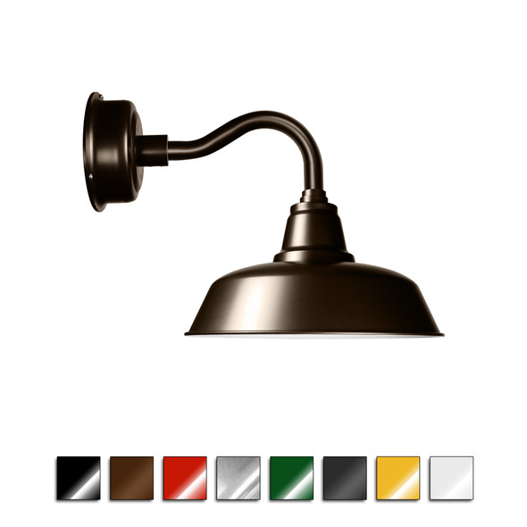Goodyear Industrial Wall Sconce Light with Chic Arm