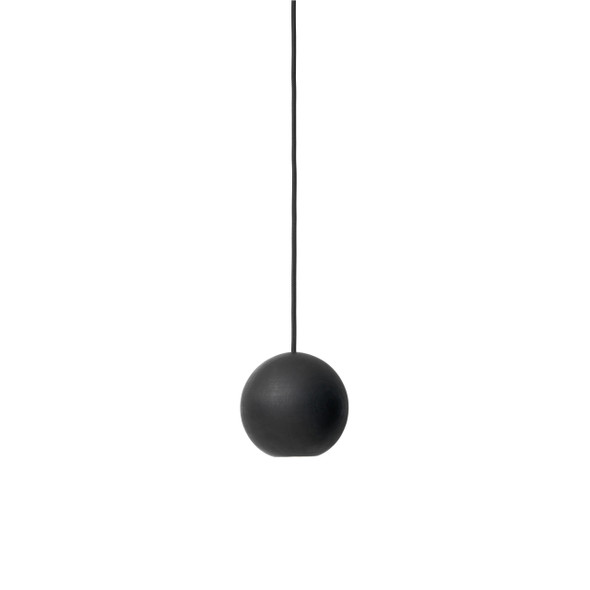 Liuku Base, Ball - Black lacquered FSC certified Linden Wood