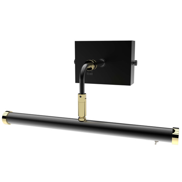 "12"" Tru-Slim Wall Mounted Picture Light in Black Brass"