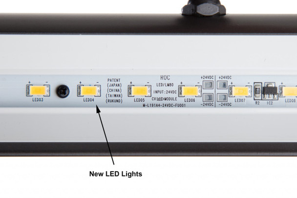 """LED Fixtures in 19"""" (GPLED19-7M) LED Grand Piano Lamp - Black/Marble plated"""