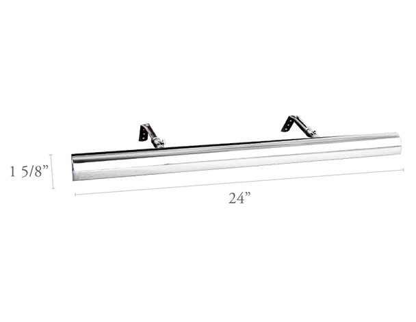 "Dimensions For Chrome LED 24""Gallery Light"