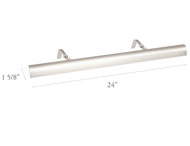 """Dimensions For Satin Nickel Classic 24"""" Picture Light"""