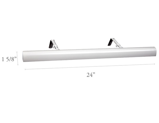 """Dimensions For Classic White LED 24"""" Picture Light"""