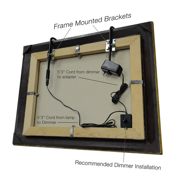 """36"""" Adjustable Classic LED Picture Light - Antique Brass"""