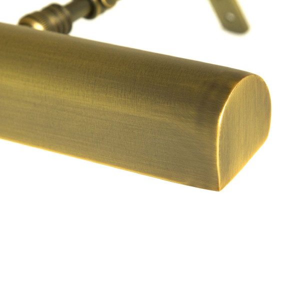 """Adjustable Antique Brass LED Classic 14"""" Picture Light"""
