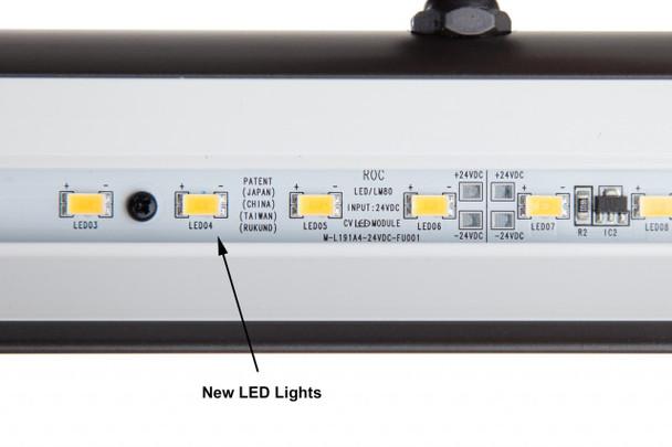 LED Classic White 36 inch Art Lighting Fixture