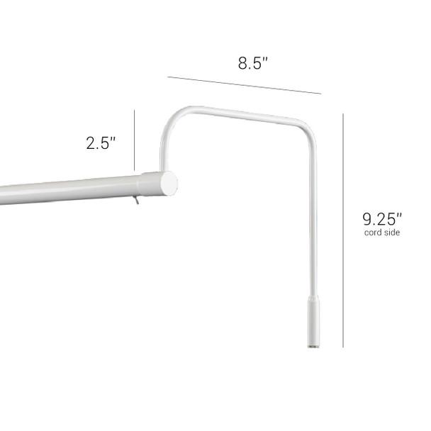 """Dimensions for  Tru-Slim 21"""" White Picture Light"""