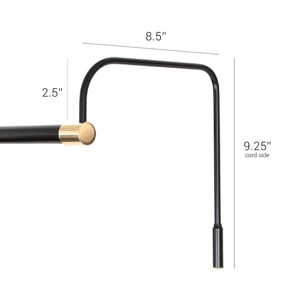"Tru-Slim 43"" LED Black/Brass Accents Art Light"