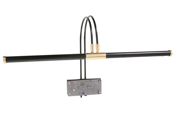 "Front View of 22"" LED Grand Piano Lamp- Black/Flower Plated"
