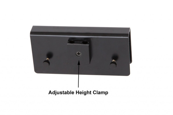 "Adjustable Height Clamp for 22"" LED Grand Piano Lamp- Black/Mahogany Cherry Wood Plated"