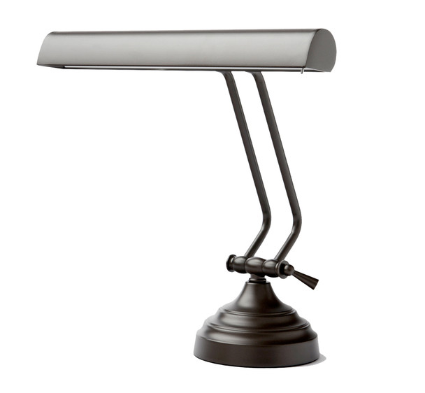 "View of 12"" Mahogany Bronze Dimmable Piano Desk Lamp"
