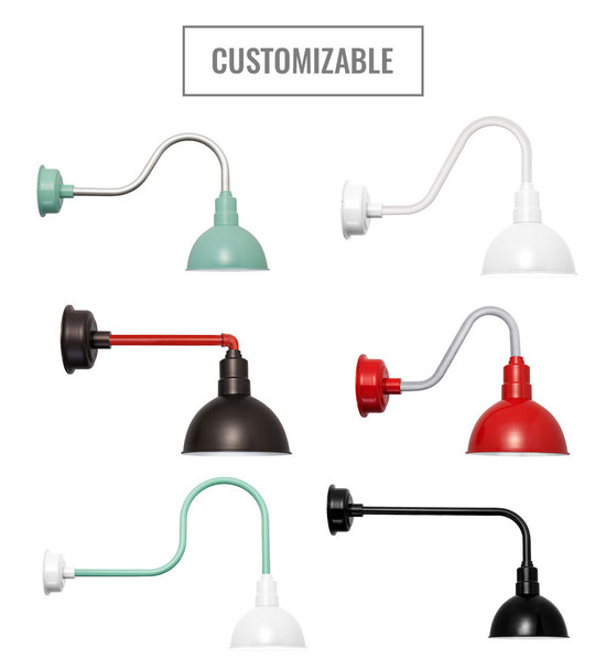 Customizable Blackspot Indoor/Outdoor LED Barn Light Colors