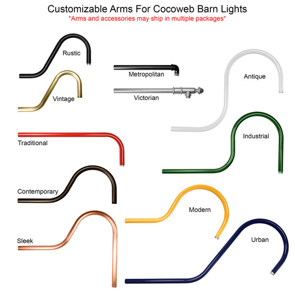 Customizable Calla Indoor/Outdoor Barn Light Arm