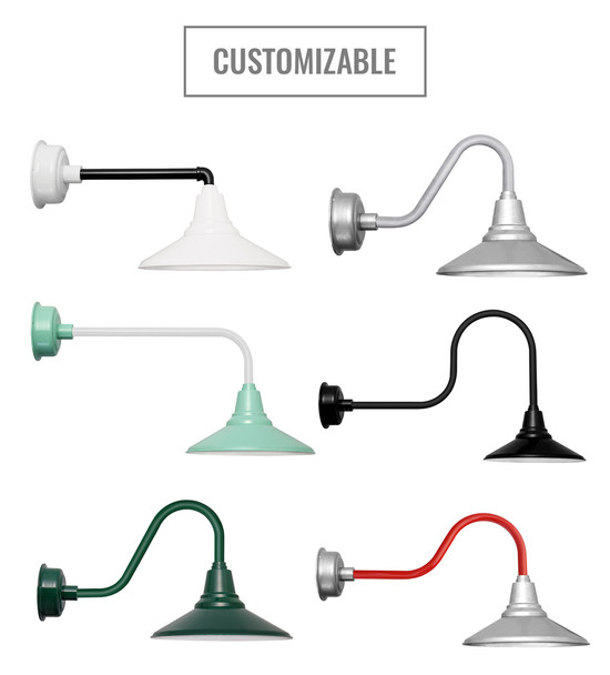 Customizable Calla Indoor/Outdoor Barn Light shade
