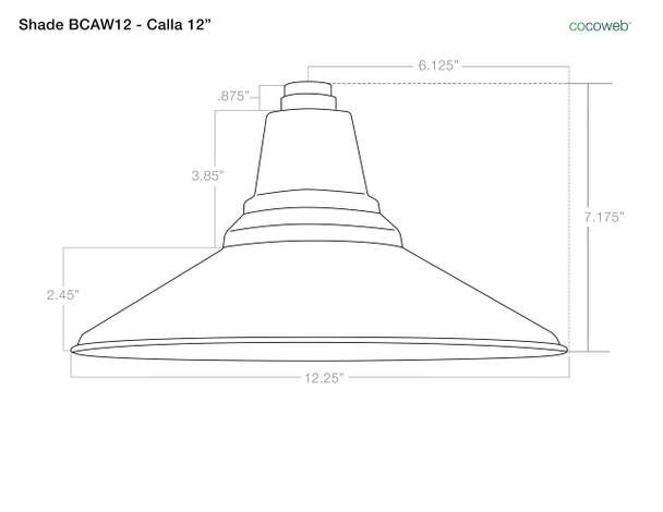"Industrial 12"" BCAW12 Barn Light Shade"