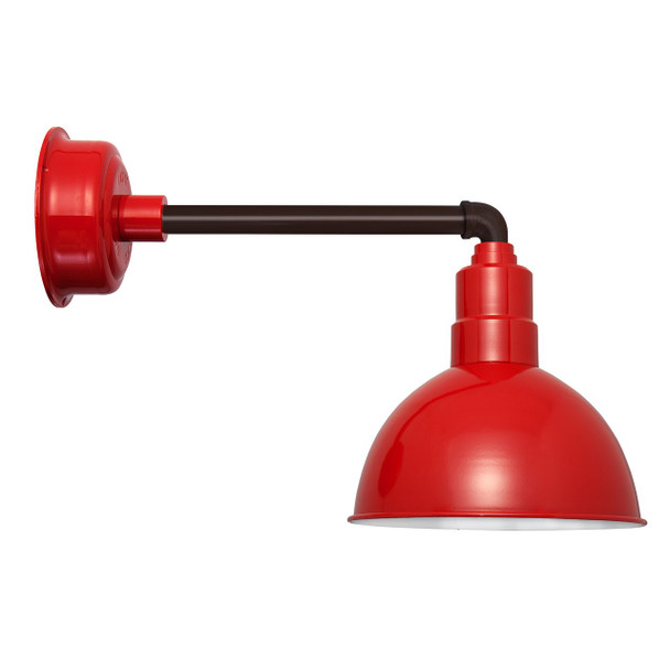 "10"" BlackSpot Cherry Red with Metropolitan Black LED Barn Light"