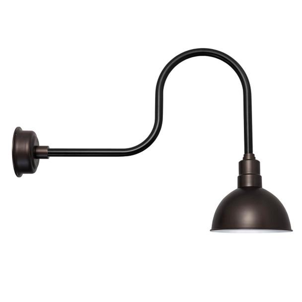 "Mahogany Bronze 14"" Industrial BlackSpot with Black"