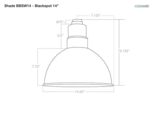 """14"""" BBSW14 Blackspot Barn Light Shade"""