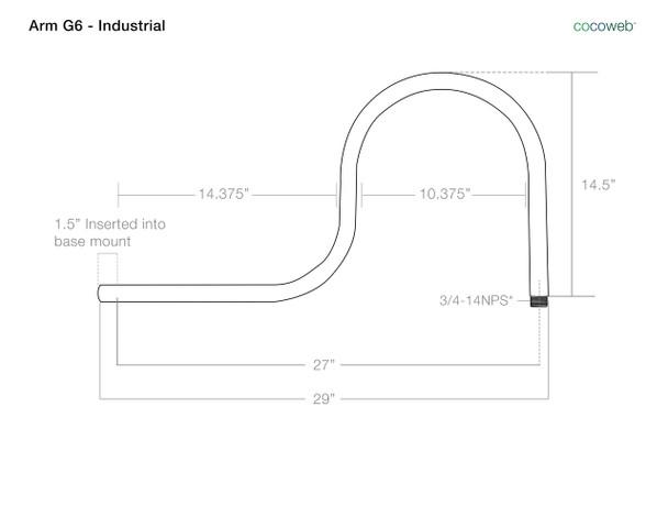 G6 Industrial Barn Light Arm