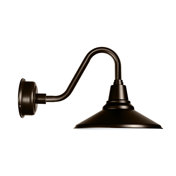 "Vintage 12"" LED Mahogany Bronze Gooseneck Barn Light"