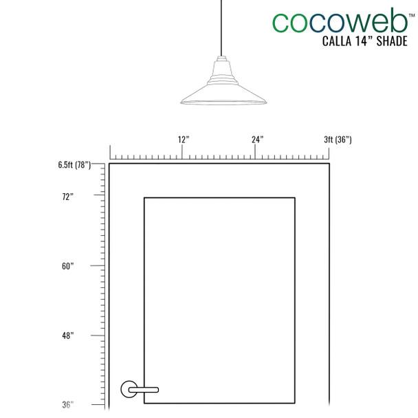 Cocoweb Pendant light shade comparison dimension