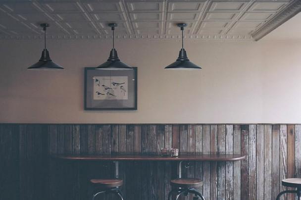Customizable Calla Indoor LED Barn Pendant Light lifestyle
