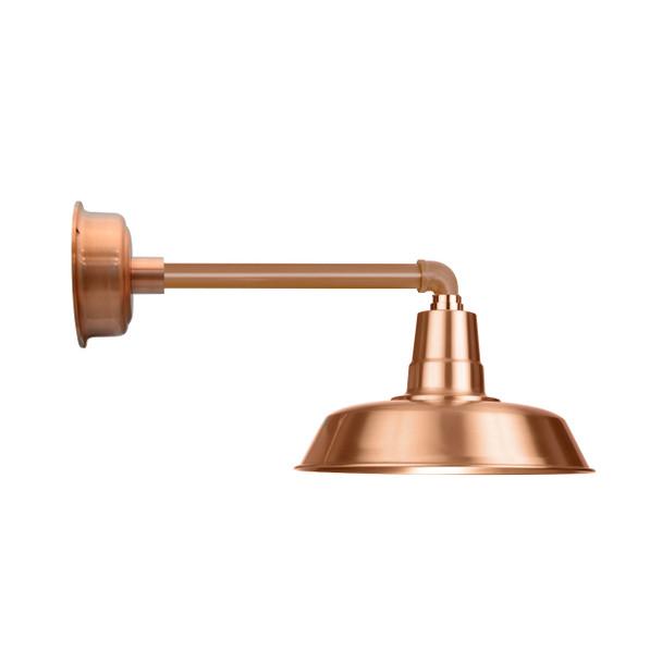 """Solid Copper 16"""" Oldage LED with Metropolitan Gooseneck Arm Barn Light"""