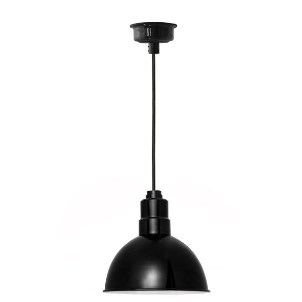 "8"" Blackspot LED Pendant Light in Black"