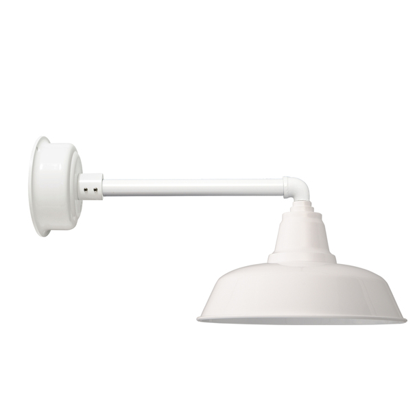 "Goodyear White Indoor/Outdoor 14"" Metropolitan LED Barn Lights"