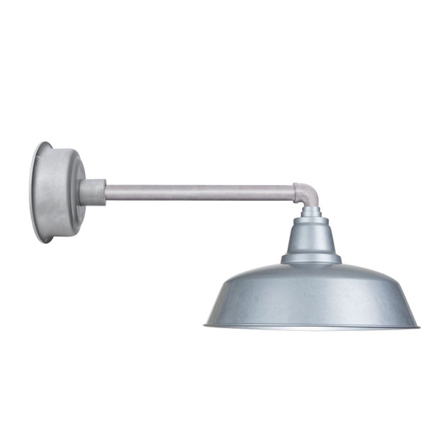 "14"" Metropolitan Galvanized Silver Goodyear Indoor/Outdoor LED Barn Lights"