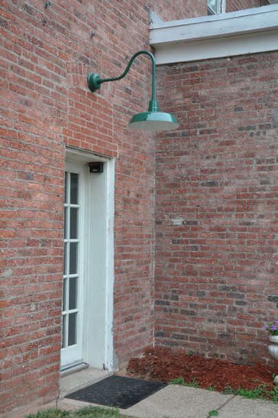 "Vintage Green Sleek 16""Oldage Indoor/Outdoor LED Barn Light"