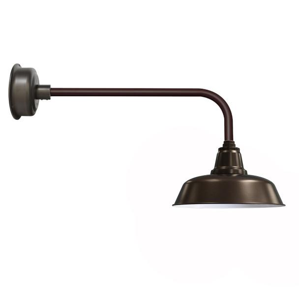 "Traditional 14"" Mahogany Bronze Goodyear Indoor/Outdoor LED Barn Lights"