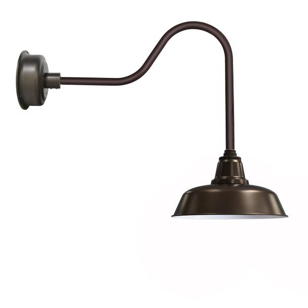 """14"""" Mahogany Bronze Goodyear Sleek Indoor/Outdoor LED Barn Lights"""