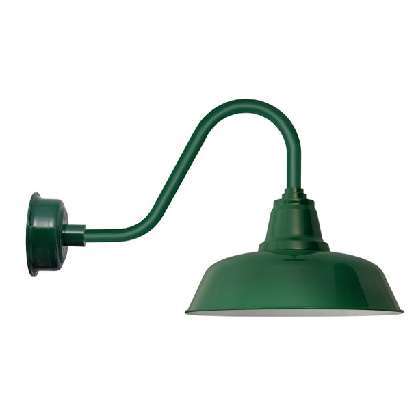 "Goodyear Rustic Vintage Green 14""  Indoor/Outdoor LED Barn Lights"