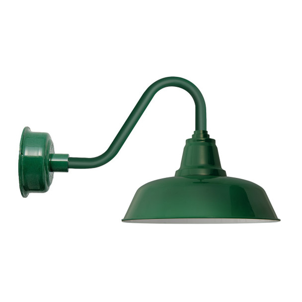 "Goodyear Vintage Green 14"" Indoor/Outdoor LED Vintage Barn Lights"