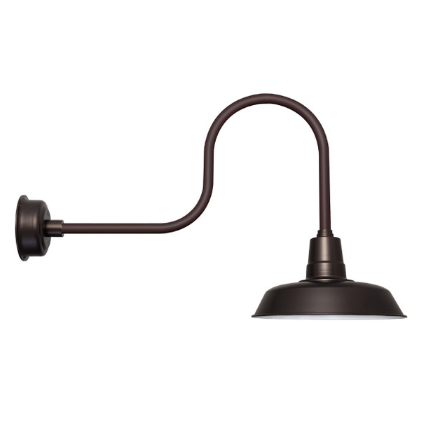 "Mahogany Bronze 16"" Industrial Oldage Indoor/Outdoor LED Barn Light"